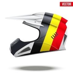 Belgium flag on motorcycle helmets vector