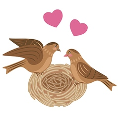 bird nest vector image