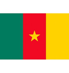 cameroonian flag vector image vector image