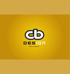 Cb c b alphabet letter combination digit white on vector