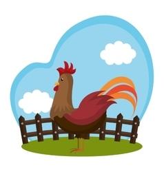 Chicken animal farm icon vector