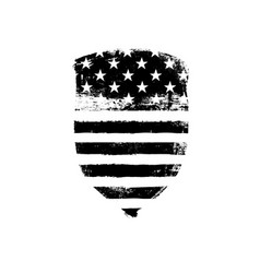 defence symbol shield icon shaped american flag vector image vector image