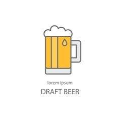 Draft beer logo template vector