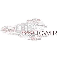 Eiffel word cloud concept vector