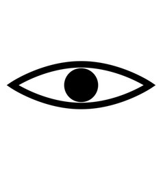 eye the black color icon vector image vector image
