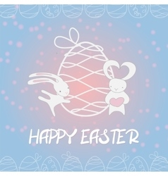 Fall in love funny bunny easter egg vector