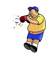 Fatboy Blow Trumpet vector image