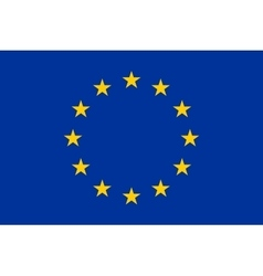 Flag of europe european union vector