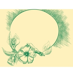 Flower retro frame vector image vector image