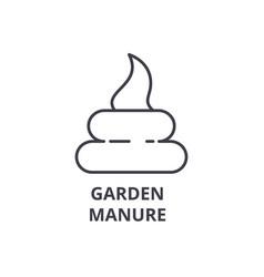 garden manure line icon outline sign linear vector image vector image