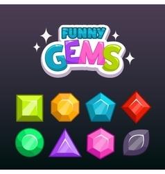 Gems set vector image