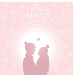 Happy love in hats vector