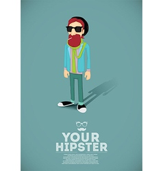 Hipster cartoon vector image vector image