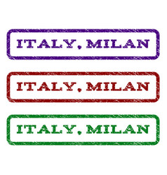 Italy milan watermark stamp vector