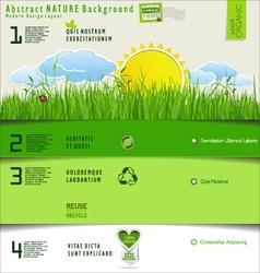 Modern nature design layout vector image