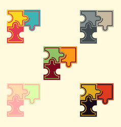 Puzzles collection vector