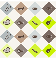 seamless abstract background with meat products vector image vector image