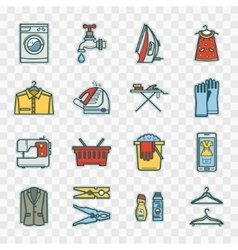 Stickers laundry room vector