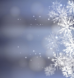 Winter snow background vector