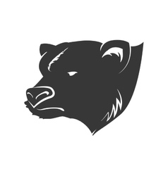 Bear wild animal silhouette predator icon vector