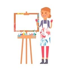 Artist creative girl character vector