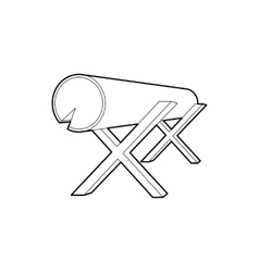 Goats for sawing logs icon outline style vector