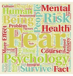 Mind killer the psychology of fear text background vector