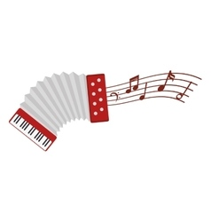 Accordion instrument isolated icon vector