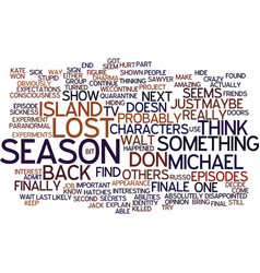 The lost season finale text background word cloud vector