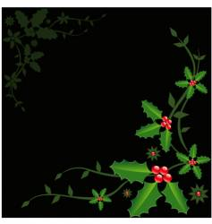 holly Christmas vector image