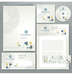 Corporate identity photography photo camera vector