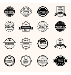 Black and White Retro Badges vector image