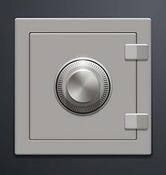 Metal safe on a gray background vector