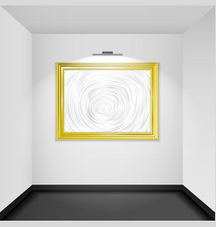 Gallery room interior blank picture frame vector