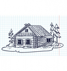 Russian hut vector image