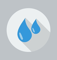 Eco flat icon water drop vector