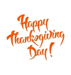 Happy thanksgiving day calligraphic text vector