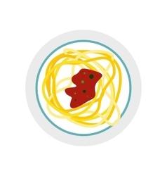 IItalian pasta icon flat style vector image