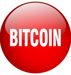 Bitcoin red round gel isolated push button vector