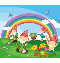 Cartoon of gnomes vector image