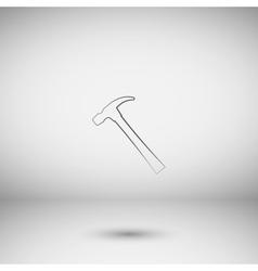Hammer flat style icon vector
