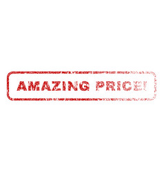 Amazing price exclamation rubber stamp vector