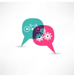bicycle gear bubble speech vector image