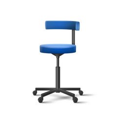 blue dental chair vector image