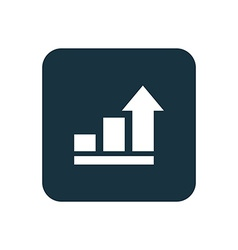 business diagram chart icon Rounded squares button vector image
