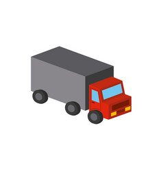Cargo truck isometric design vector