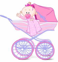 cartoon baby vector image vector image