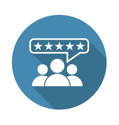 Customer reviews rating user feedback concept vector