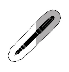 Dark figure ballpoint icon vector