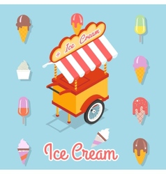 Flat ice cream vector image
